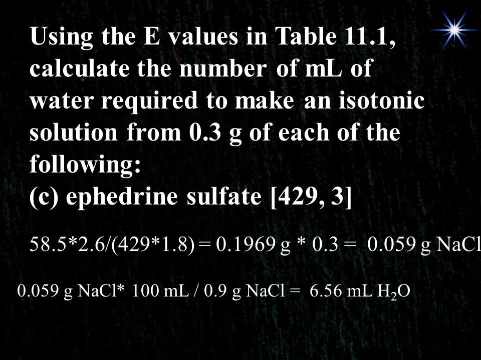 (c) ephedrine sulfate [429, 3]